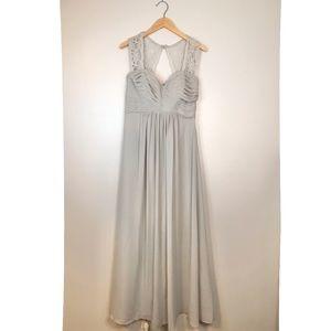 Bill Levkoff Desert Grey Bridesmaid Dress